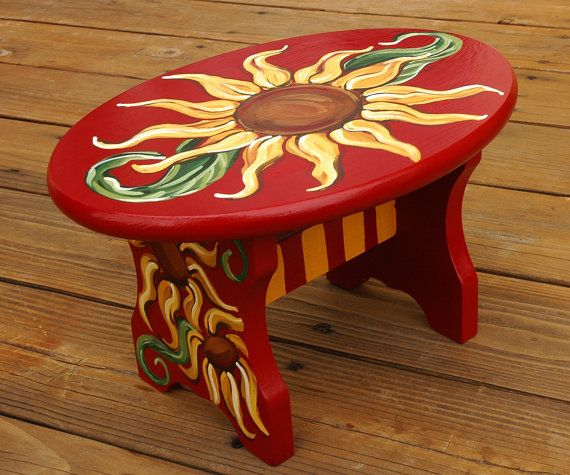 Whimsical Bar Stools Best 25+ Hand Painted Stools Ideas On Pinterest | Painted