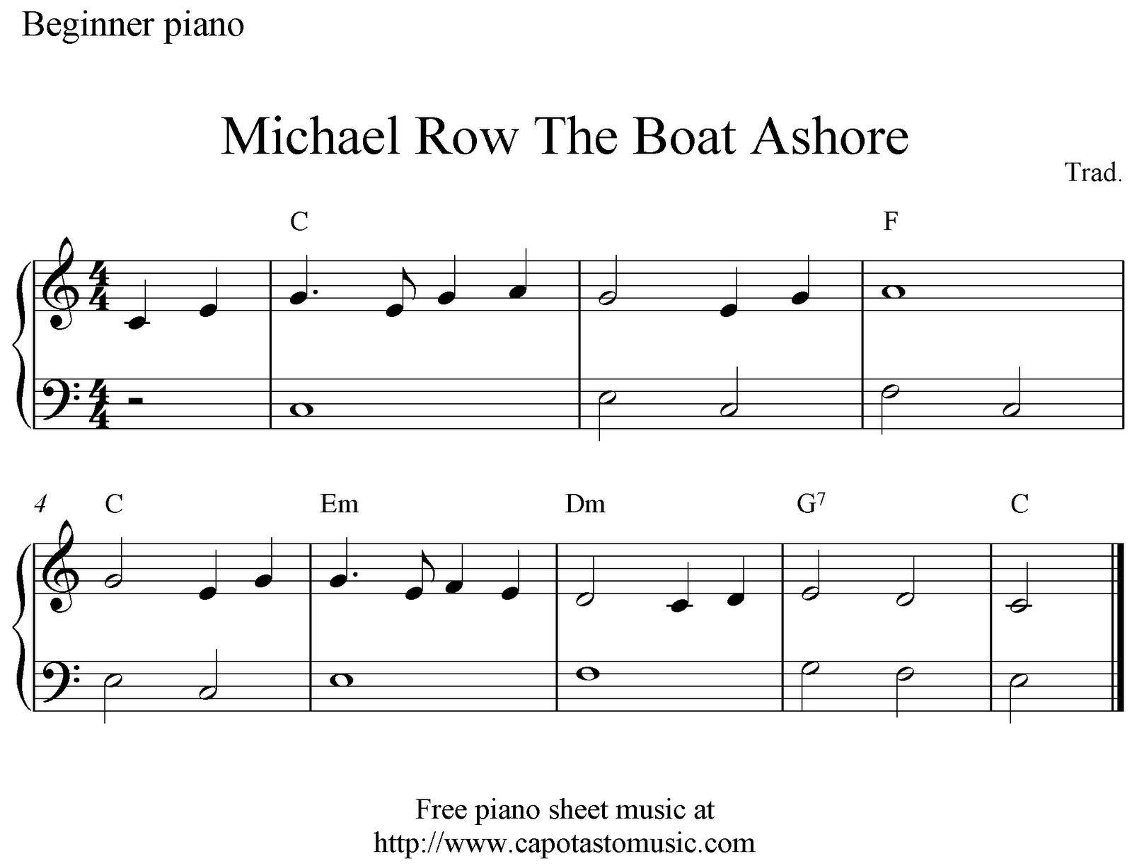 Free Sheet Music Scores Piano