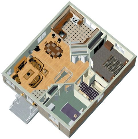 Free Plans For Two Bedroom House Plus Model Plan