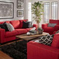 Resultado de imagen de black feature wall living room grey ...