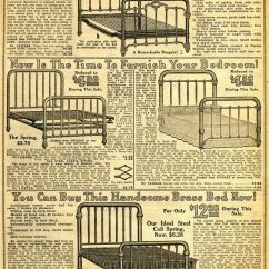 Cheapest Living Room Furniture Shabby Chic Rooms Pictures 1914 Sears Household Catalog Bed Frames | Early 20th ...