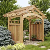 Arching Garden Arbor Woodworking Plan, Outdoor Backyard ...