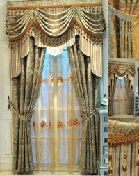 vintage lace curtains in Combined Green Color for Fancy
