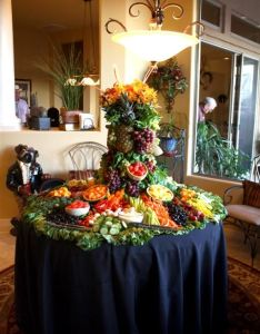 Fruit display my daughter and  made for  friends th birthday party also prince conference center fresh fruits  veggies rh cz pinterest