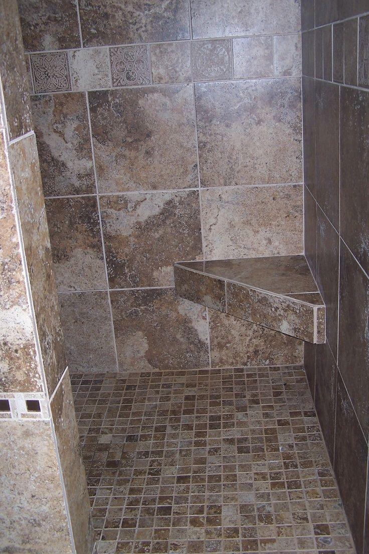 Doorless Walk Shower Half Walls