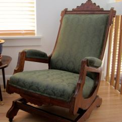 Rocking Chair Antique Styles Free Church Chairs Eastlake Chair: 1860's Walnut, Expertly Reupholstered, Shipping Included | ...