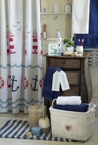 Lighthouse Bathroom Decor Set