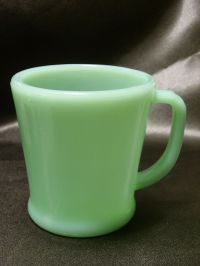 Vintage, 1950s, Fire King Oven Ware Coffee Mug in Jadeite ...