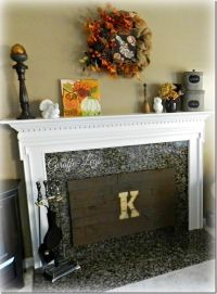 Insulated Fireplace Cover w/Pallet Wood | Simple Crafts ...