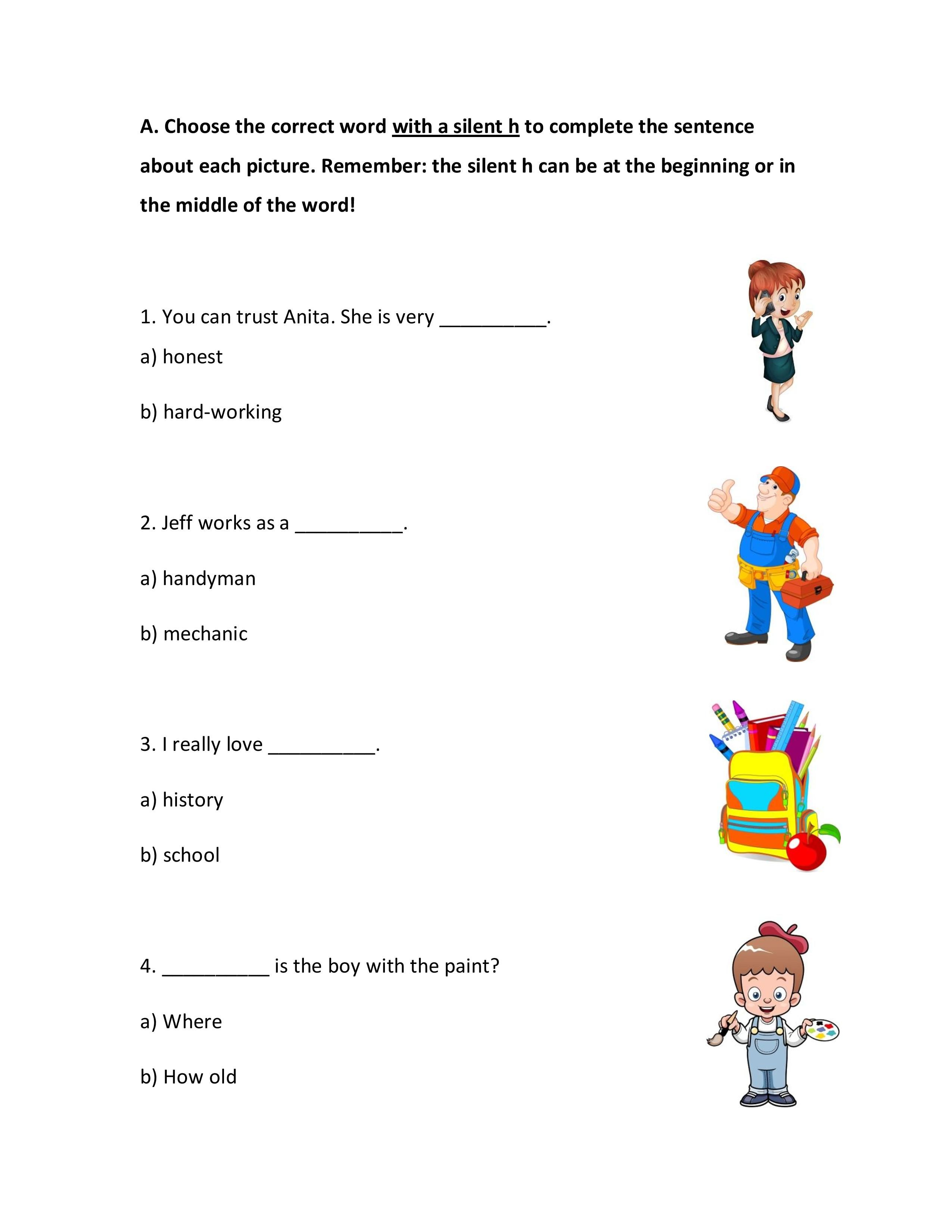 English Spelling Rules Worksheets