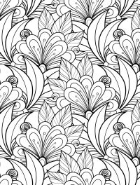 24 More Free Printable Adult Coloring Pages   Flower ...