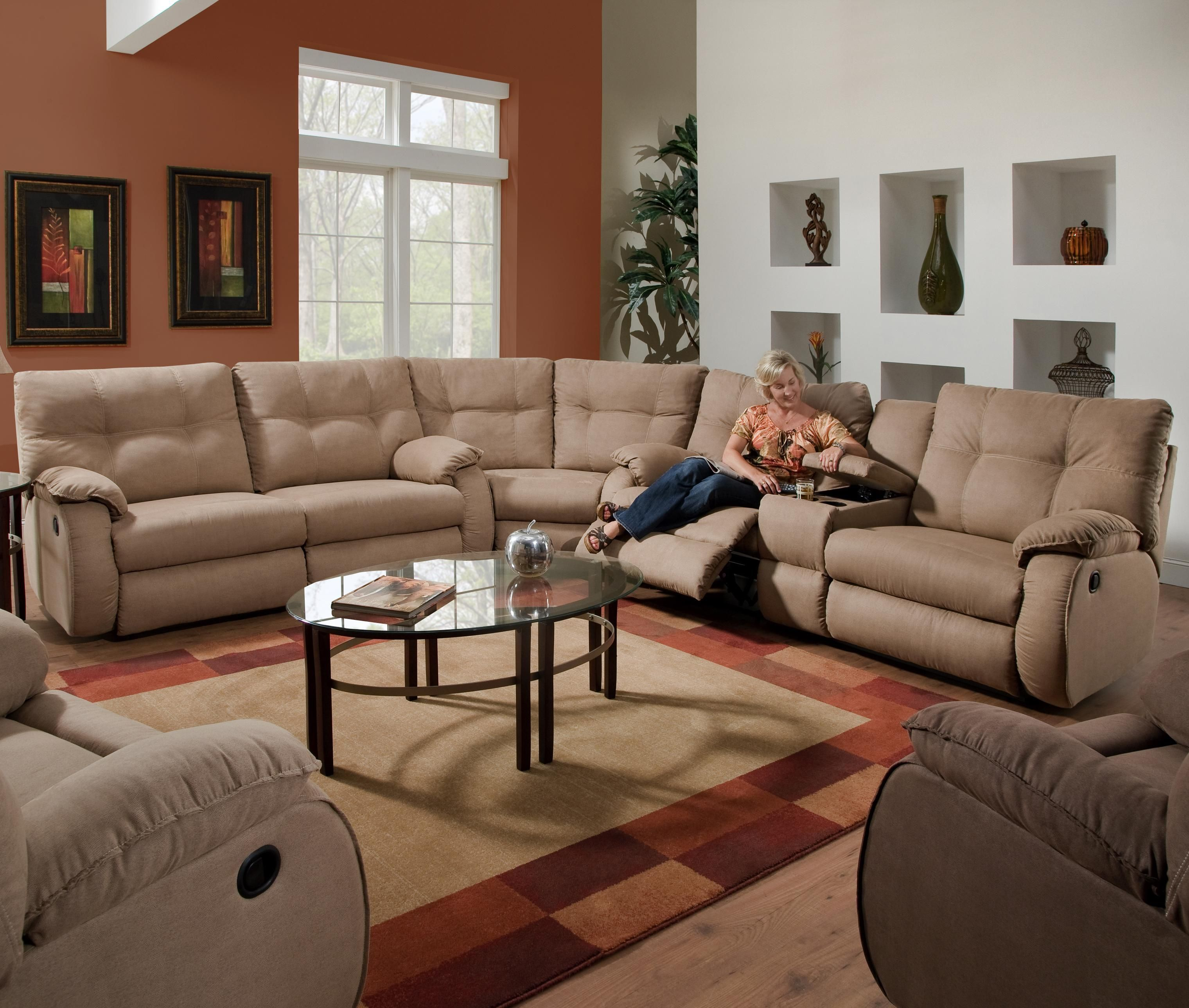 Dodger Reclining Sectional Sofa By Southern Motion Home
