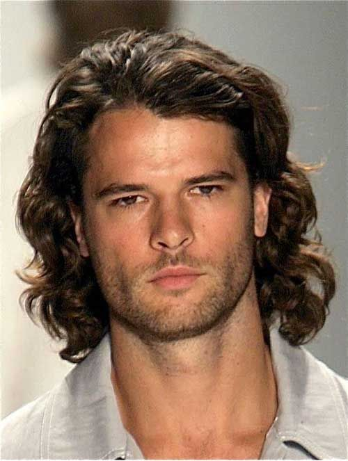 Men Long Hairstyles With Curls Hair Pinterest Thick Curly