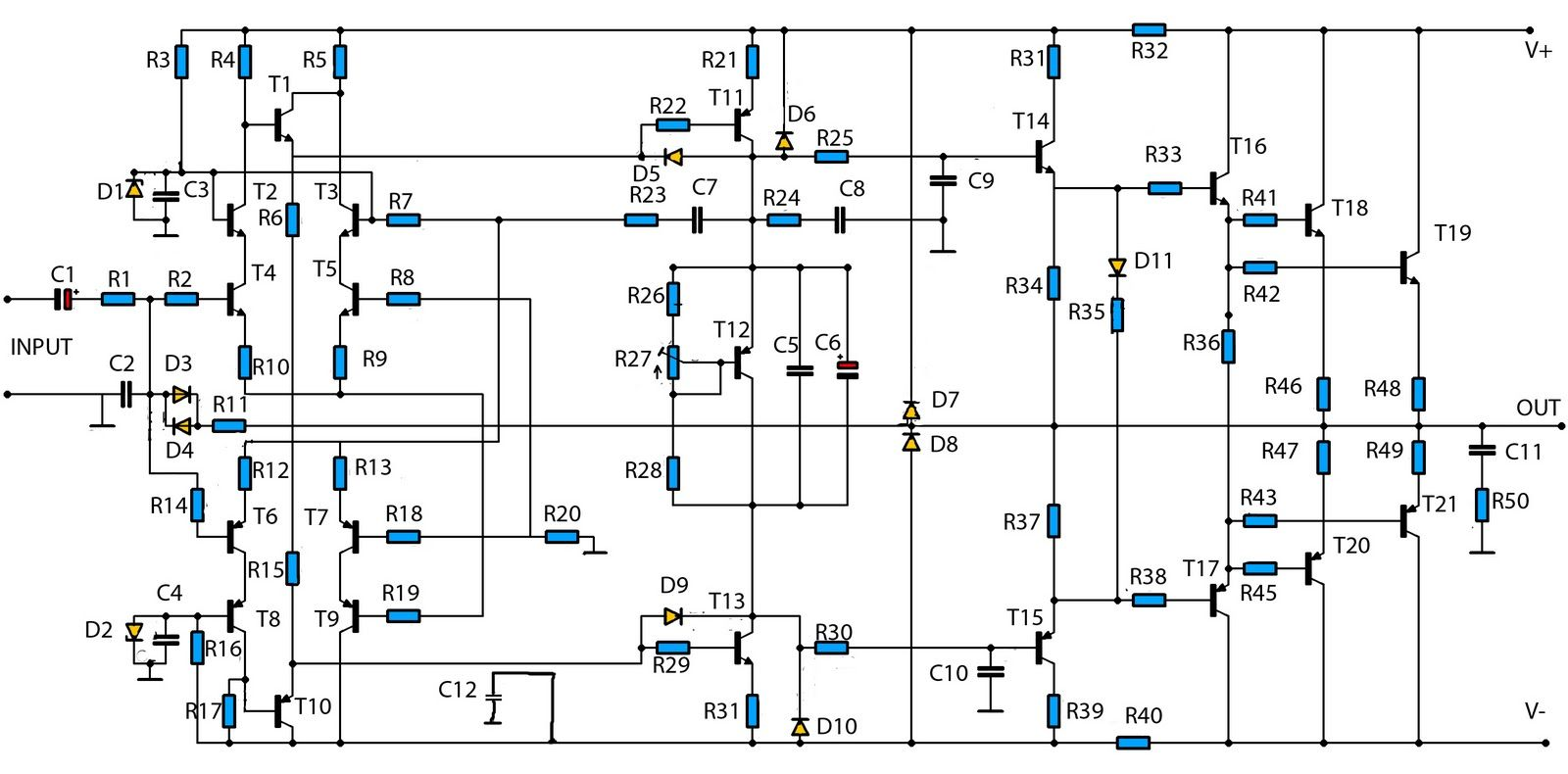 Draw your wiring : Make A Amplifire 5000watt Crcuit Diagram