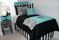 Tiffany Blue Designer Dorm Bedding Set