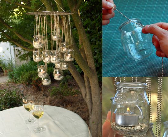 DIY Recycled Glass Chandelier Gardens Recycled Materials And Jars