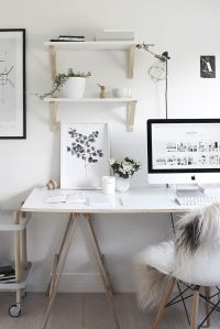 Decor and Design: White Home Office Ideas | Workspaces ...