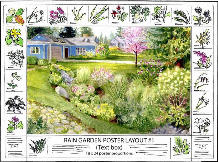 Good Nature Notes New Rain Garden Sketch Dry Creeks And Rain