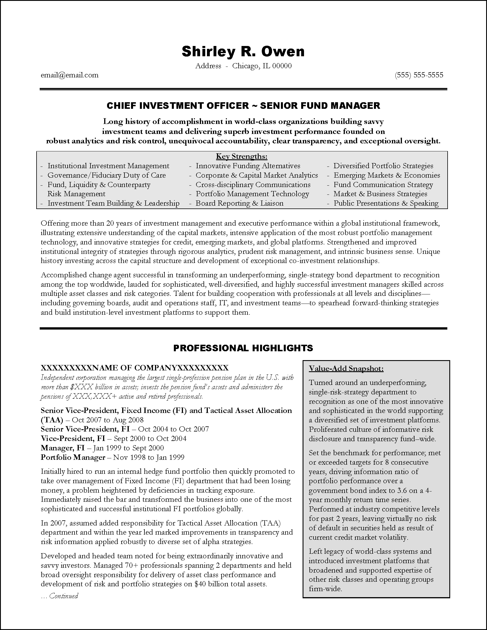Casac T Resume Sample Investment Banking Resume Format Radiovkm Tk