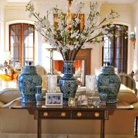 Chinese Chinoiserie Vase Blue And White Decorating Branches Living Wallpaper Hd Interior Design Ideas Of Laptop
