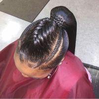 Fishtail braid ponytail   Natural Hair Styles   Pinterest ...