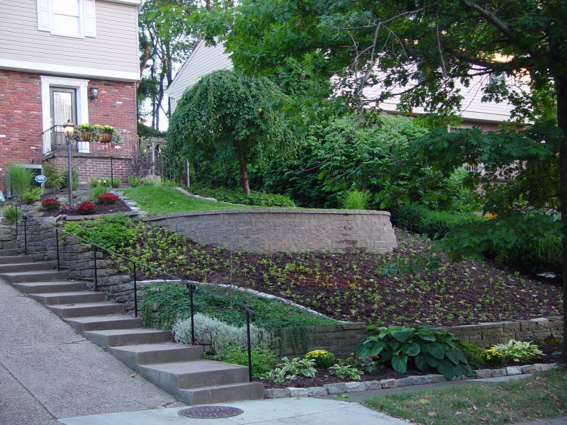 Natural Steep Slope Landscaping Ideas Granite Steps Paver