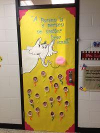 "Dr. Seuss ""Horton Hears a Who"" door decoration. | DIY ..."