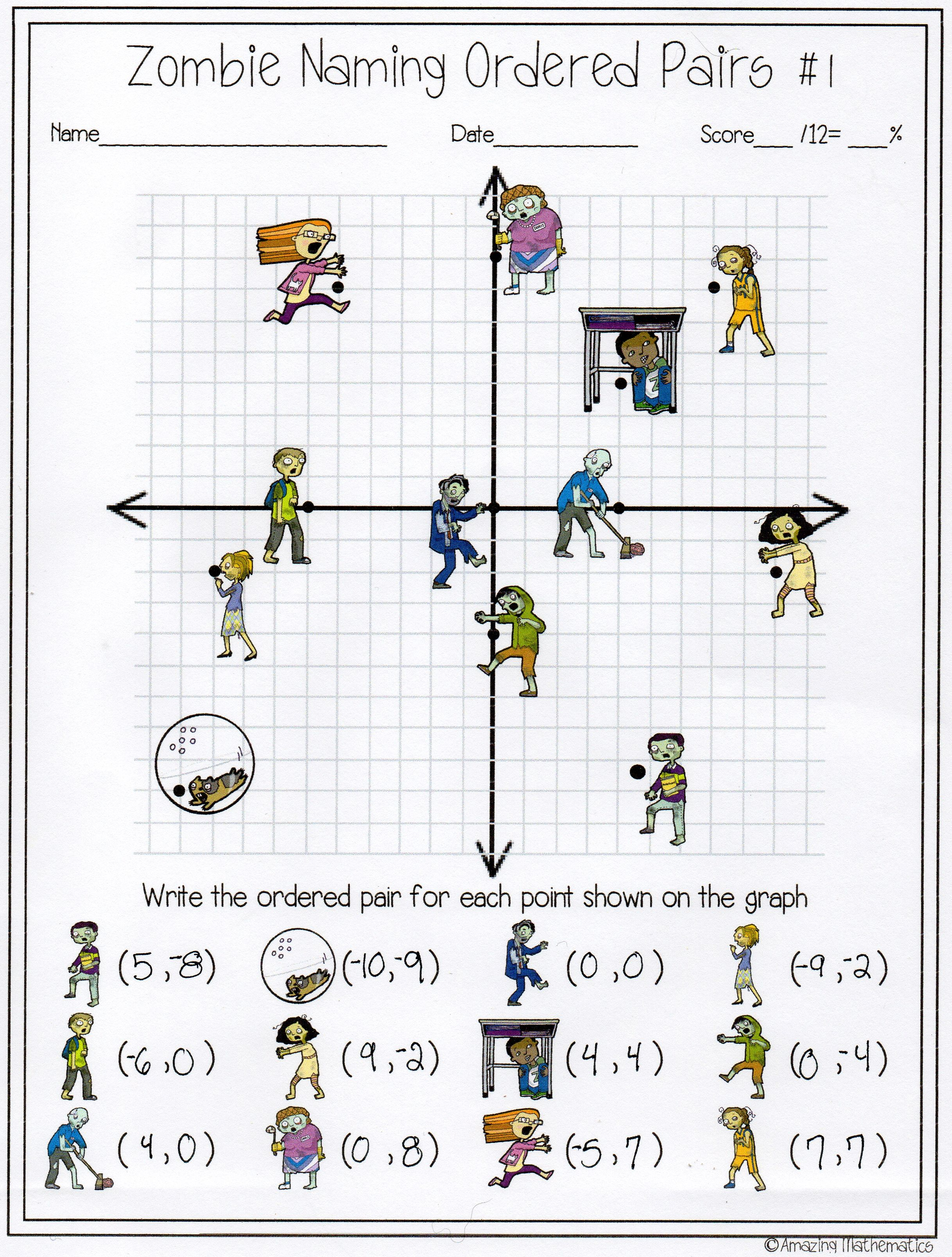 Math Zombies And Activities