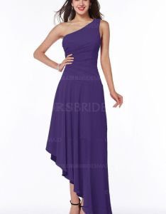fb8879ec4cf Pansy luxury line zip up chiffon floor length ruching bridesmaid dresses  also dark purple simple one