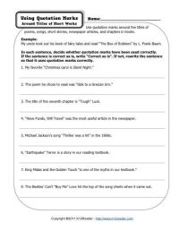 Quotation Marks | Quotation mark, Punctuation and Worksheets