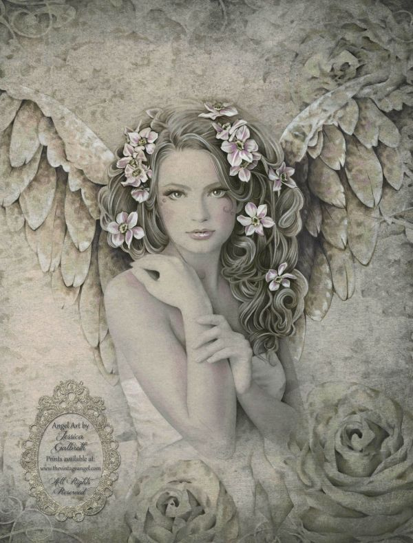 Victorian Angel Drawing