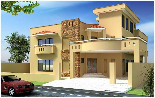 INDIAN HOUSE Kanal 10 Marla Plan 3d Front Elevation Of