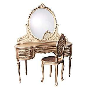 This Reproduction Of An Antique Vanity Dressing Table And Mirror Is Beautiful It S So Elegant Will Complement Many Diffe Types Bedroom