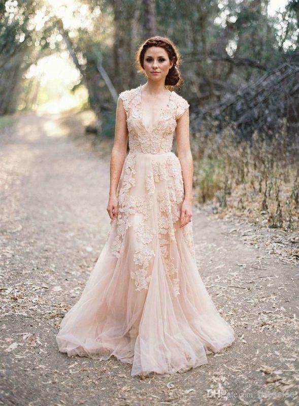 Vintage Spitze Wurfhülse Brautkleid Eigene Hochzeitskleid Gr 34 36