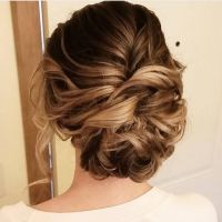 Beautiful messy updo wedding hairstyle for romantic brides ...