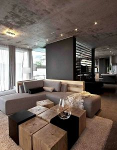 Aupiais house by site interior design great use of wood and slate fixtures  cool neutral palette to inspire very modern room also pin micha jarzynka on stunning houses  flats pinterest rh
