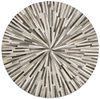 Grey cowskin 150cm diameter Contemporary round rugs