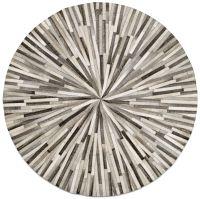 Grey cowskin 150cm diameter Contemporary round rugs ...