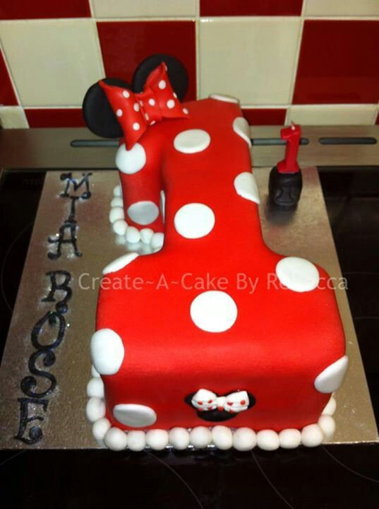 Minnie Mouse Number 1 Cake Cakes 1st Birthday Cakes