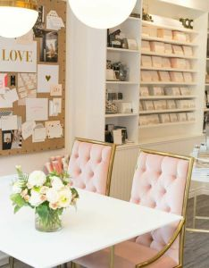 Sugar paper   new look see it now lonny in the pink after years also shabby chic office makeover and rh pinterest