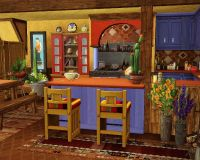 Traditional Mexican Kitchen / Its a beautiful and colorful ...