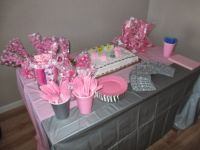 Pink and Grey Elephant Baby Shower Theme | Baby shower ...