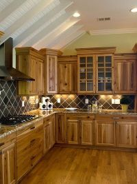kitchen decor ideas rustic kitchen hickory cabinets wood ...