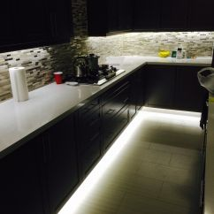 Kitchen Counter Lighting Peerless Faucet Parts Under Cabinet And Footwell Led Strip Also Hidden
