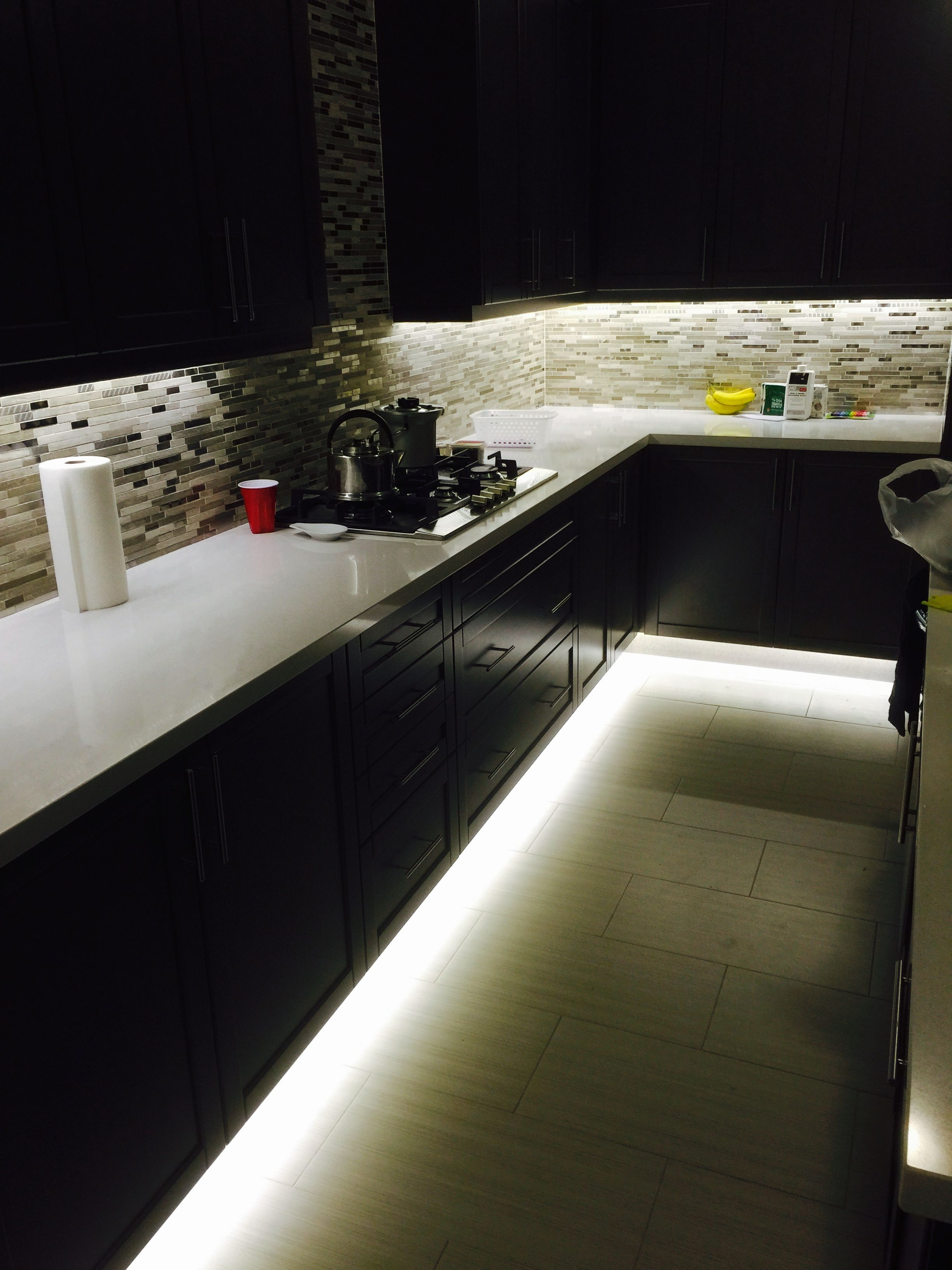 best lighting for kitchen aid artisan sale under cabinet and footwell led strip also hidden