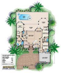 Santa Barbara Tuscan Floor Plan | Mediterranean Floor Plan ...