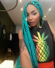 colorful box braids inspire