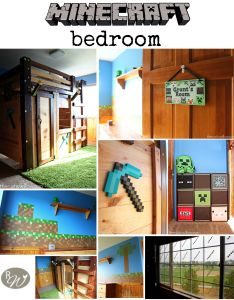 Sponge painted minecraft walls for the perfect kids room visit rustic willow  full tutorial and guide creative themed ideas also bedroom ping pixels boys rh pinterest
