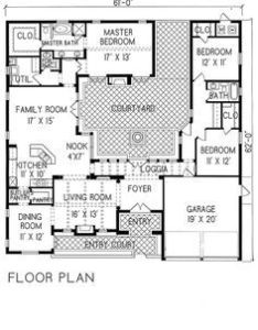 bedroom house plans with courtyard google search also proyecto rh pinterest