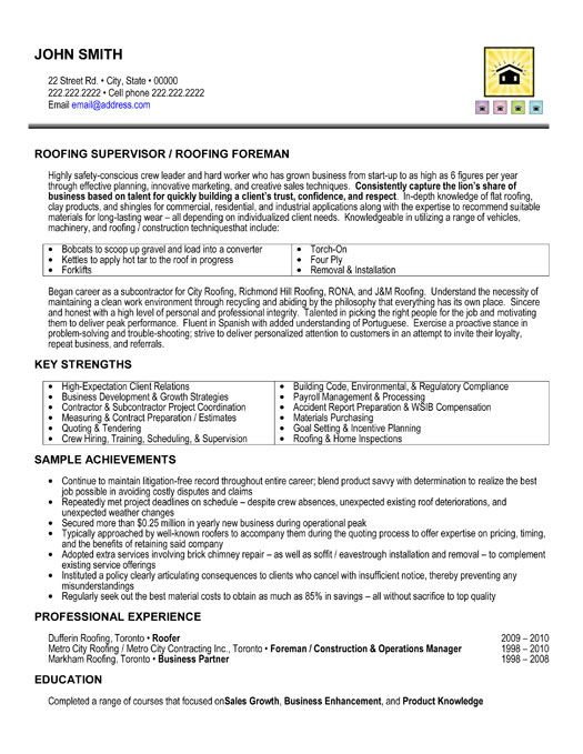 Roofing Resume Samples Roofer Resume Free Roofer Resume Example